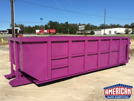 30 Yard Straight Wall Cable Dumpsters - American Made Dumpsters