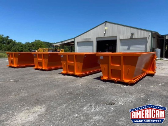 Slant Wall Style Dumpsters - American Made Dumpsters