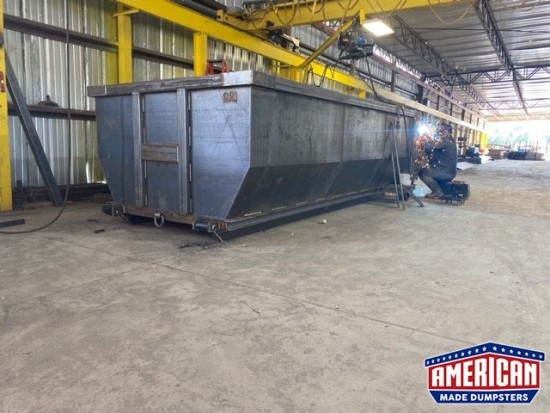 30 Yard Tub Style Cable Dumpsters - American Made Dumpsters