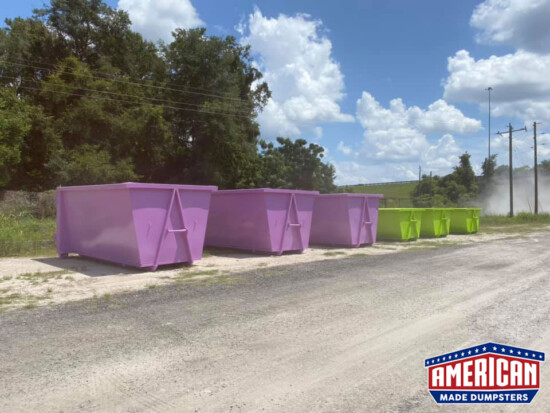 36 Inch Hook Dumpsters - American Made Dumpsters