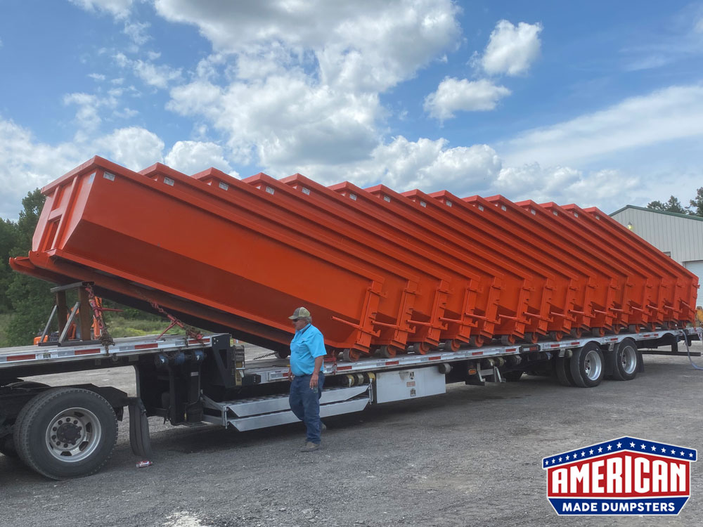 15 Yard Roll Off Dumpsters - American Made Dumpsters